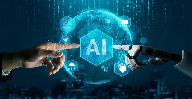 Concepto De Inteligencia Artificial Robot Futurista_