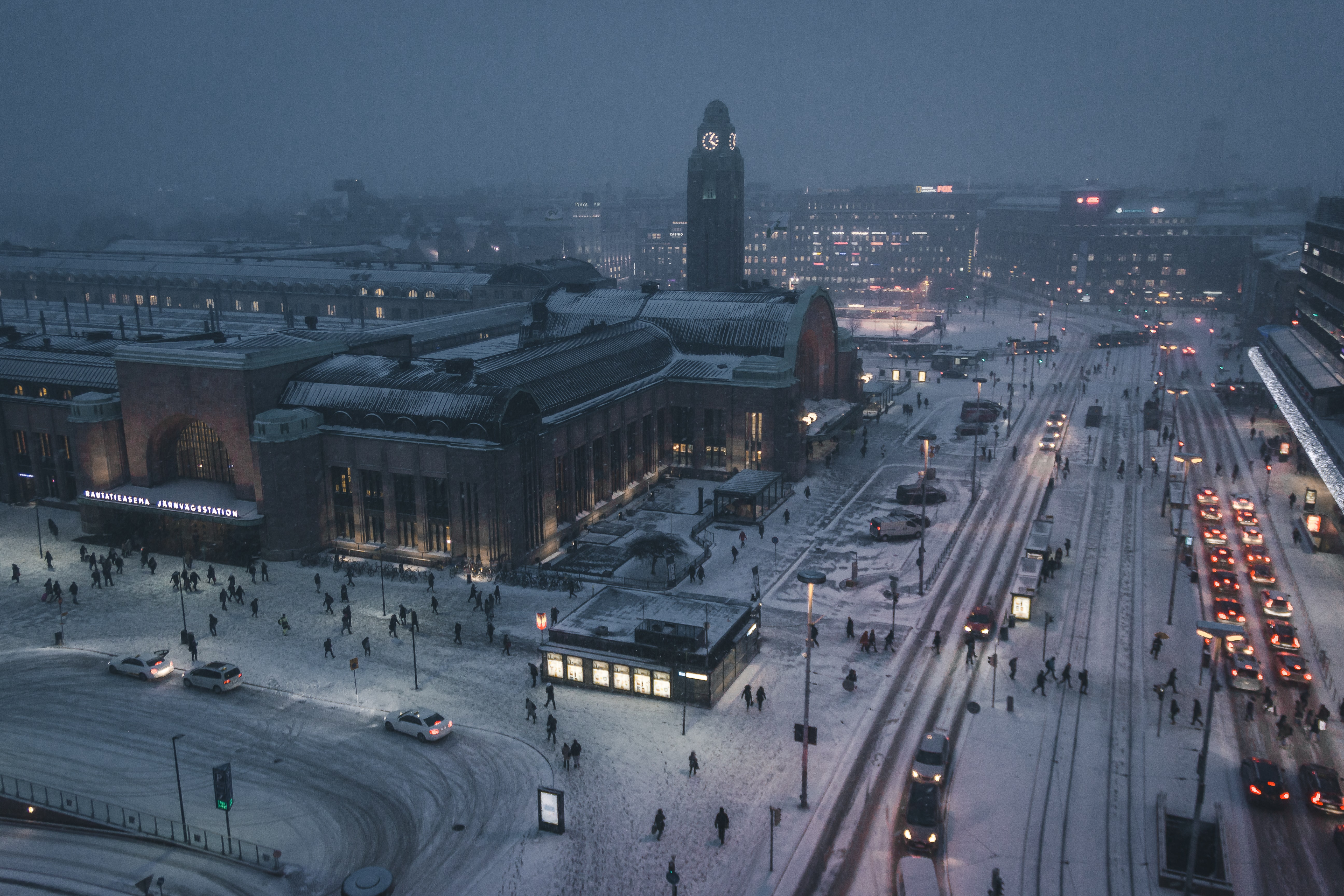 Finland covered in snow; pre-employment assessment