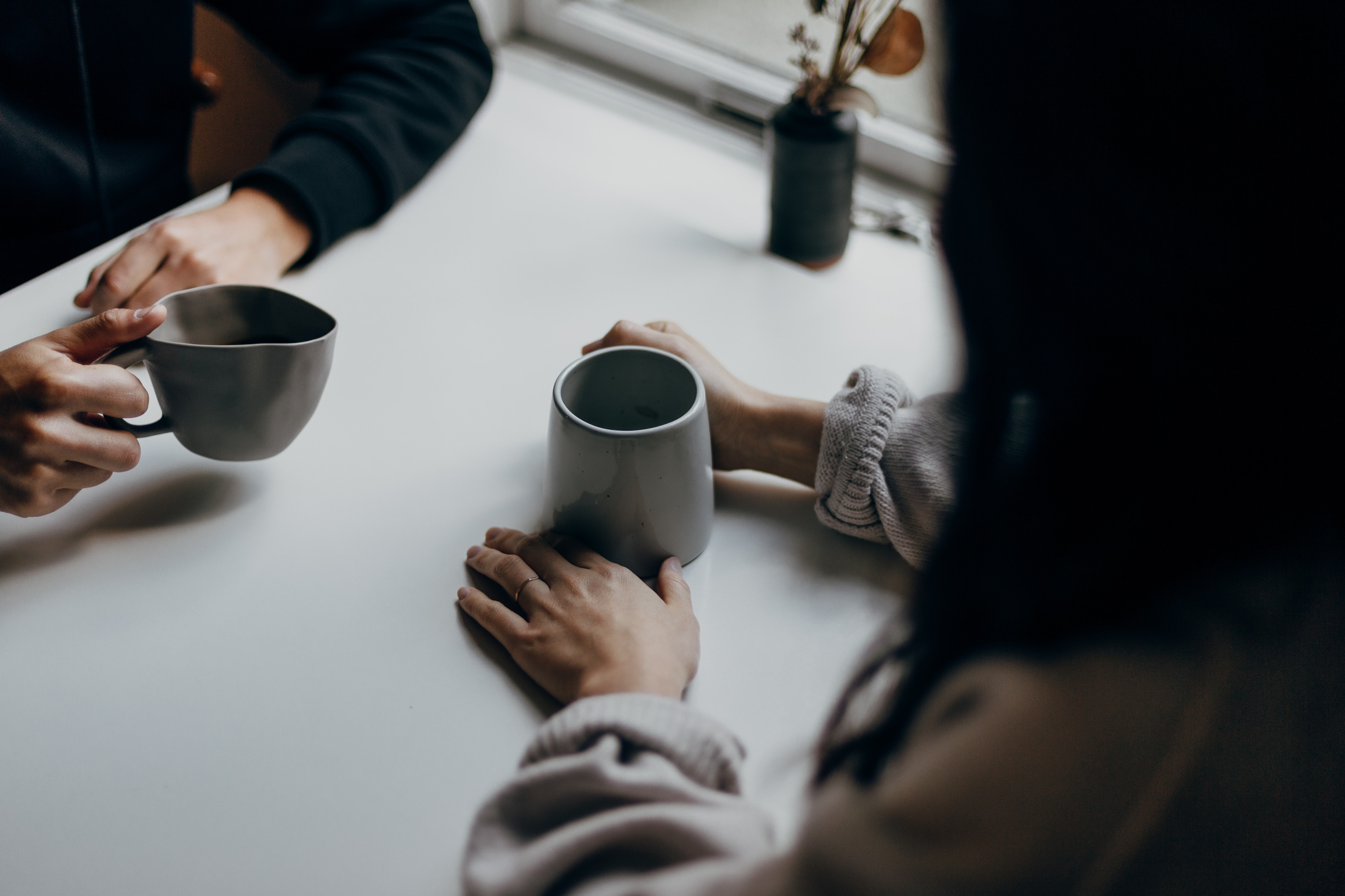 talking over a cup of coffee; pre-employment assessment