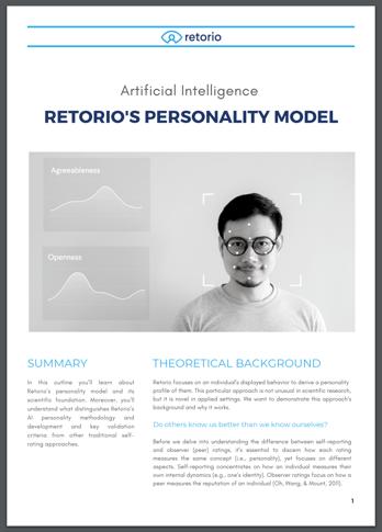 retorio AI pre-employment assessment
